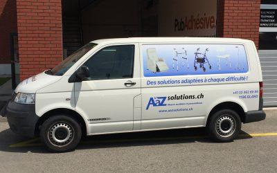Bus de livraison AàZsolutions personnalisé